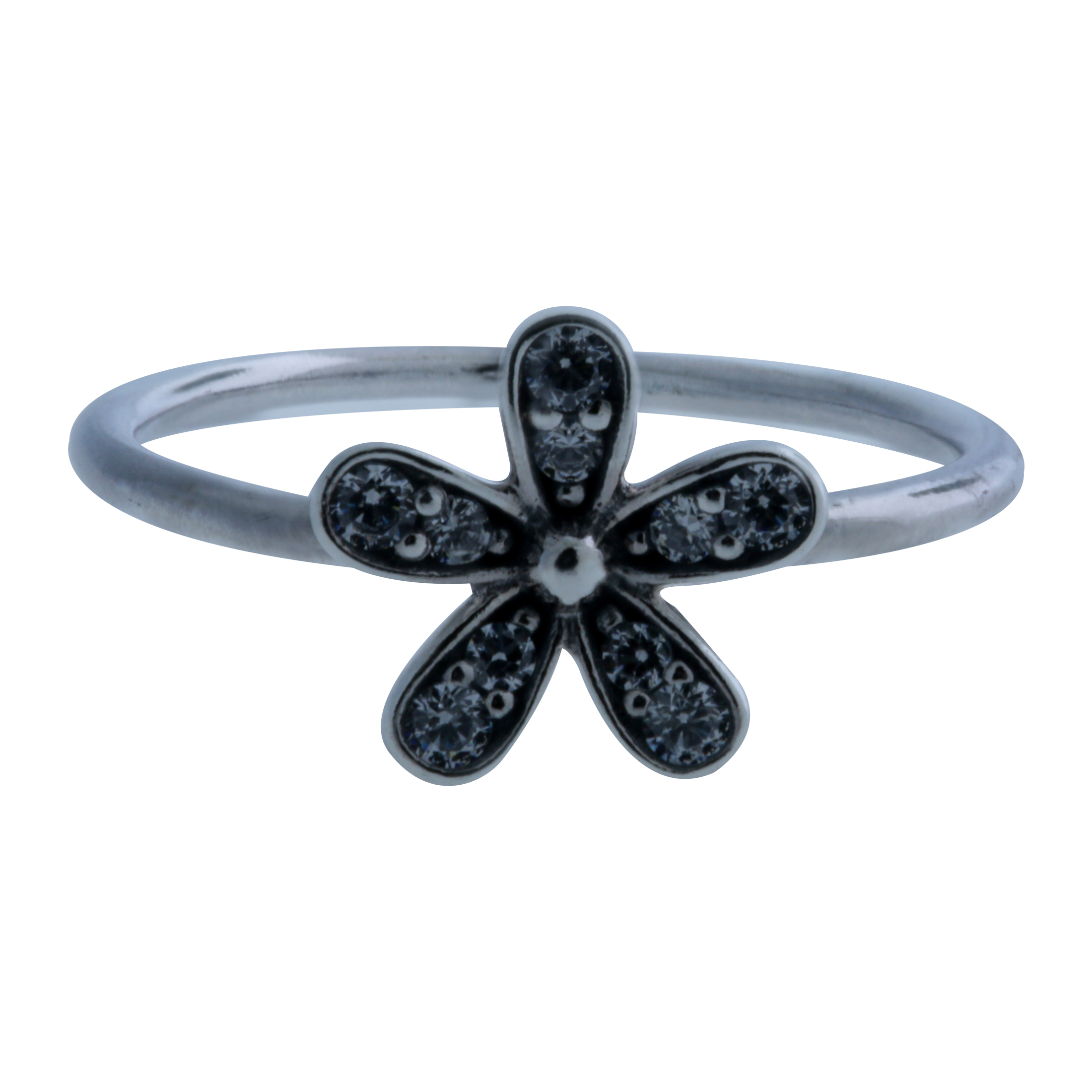 677ab641b Details about Authentic PANDORA Ring Dazzling Daisy with Clear CZ 190932CZ- 56, Size 7.5 : 56