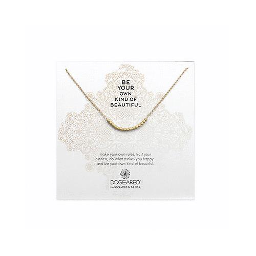 Details about Dogeared Bead Curve Necklace In Gold Dipped 18